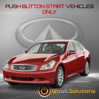 2007-2008 Infiniti G35 Remote Start Plug and Play Kit (Push Button Start)