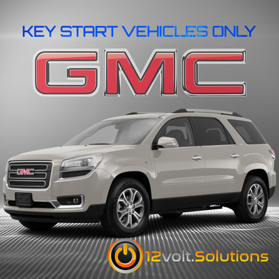 2007-2016 GMC Acadia Plug & Play Remote Start Kit (Key Start)