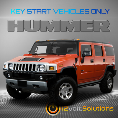 2008-2009 Hummer H2 Plug & Play Remote Start Kit (Key Start)