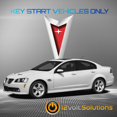 2008-2009 Pontiac G8 Plug & Play Remote Start Kit (Key Start)