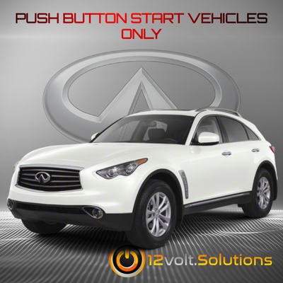 2009-2012  Infiniti FX35 Remote Start Plug and Play Kit (Push Button Start)