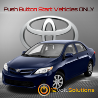 2009-2013 Toyota Corolla Plug and Play Remote Start Kit (Push Button Start)