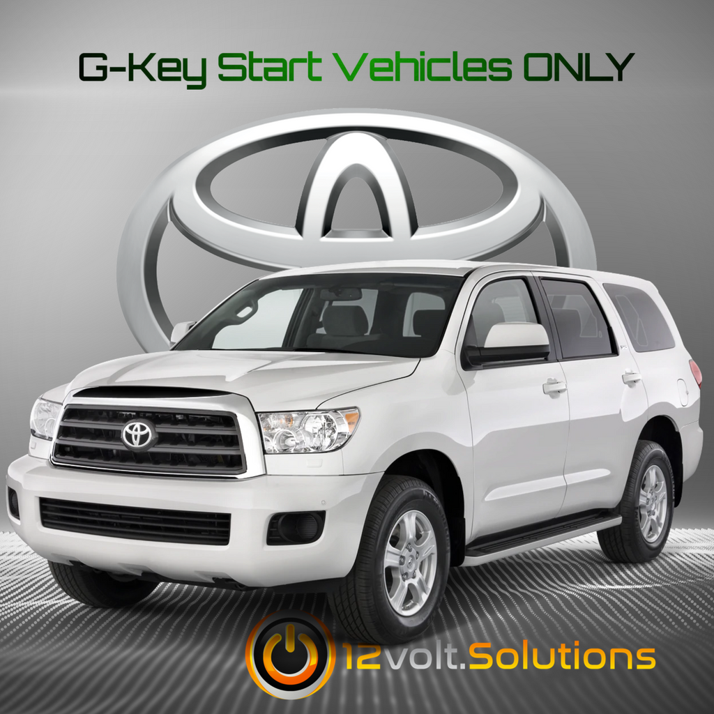 2010-2014 Toyota Sequoia Plug & Play Remote Start Kit (G-Key)