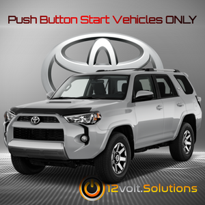 2010-2019 Toyota 4Runner Plug & Play Remote Start Kit (Push Button Start)