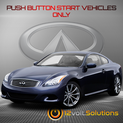 2011-2012 Infiniti G25 Remote Start Plug and Play Kit (Push Button Start)