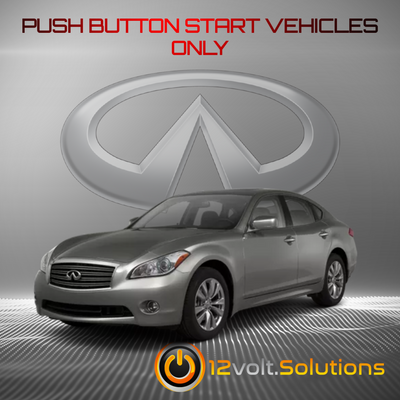 2011-2013 Infiniti M56 Remote Start Plug and Play Kit (Push Button Start)