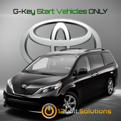 2011-2014 Toyota Sienna Plug and Play Remote Start Kit (G-Key)