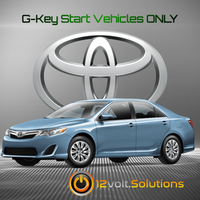 2012-2014 Toyota Camry Plug & Play Remote Start Kit (G-Key)