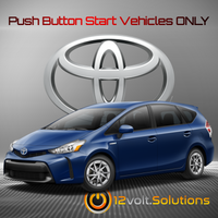 2017-2018 Toyota Prius V Plug & Play Remote Start Kit (Push Button Start)