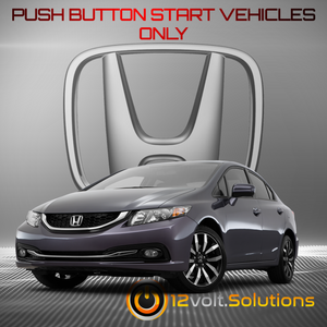 2014-2015 Honda Civic Plug & Play Remote Start Kit (Push Button Start)