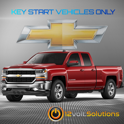 2014-2016 Chevrolet Silverado 1500 Plug & Play Remote Start Kit (Key Start)
