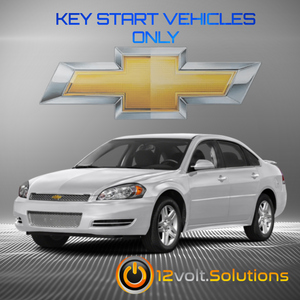 2014-2016 Chevrolet Impala LIMITED Plug & Play Remote Start Kit (Key Start)