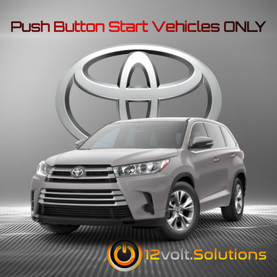 2014-2018 Toyota Highlander Plug & Play Remote Start Kit (Push Button Start)