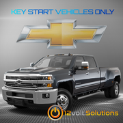 2015-2016 Chevrolet Silverado 2500 3500 Plug & Play Remote Start Kit (Key Start)