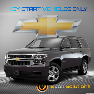 2015-2016 Chevrolet Tahoe Plug & Play Remote Start Kit (Key Start)