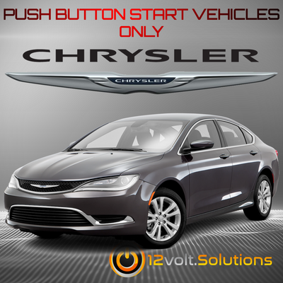 2015-2017 Chrysler 200 Plug & Play Remote Start Kit (Push Button Start)
