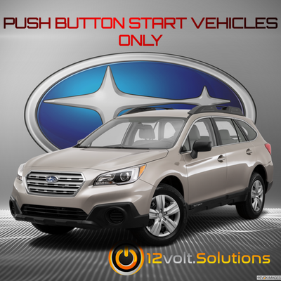 2015-2017 Subaru Outback Plug and Play Remote Start Kit (Push Button Start)
