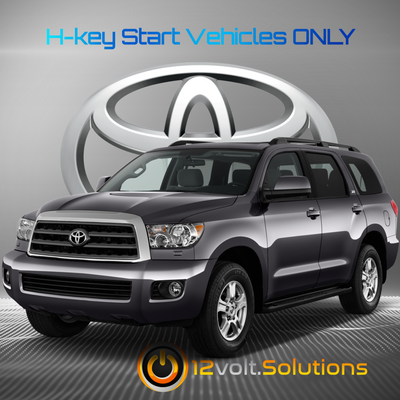 2015-2017 Toyota Sequoia Plug and Play Remote Start Kit (H-Key)