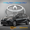 2015-2019 Toyota Prius C Plug and Play Remote Start Kit (H-Key)