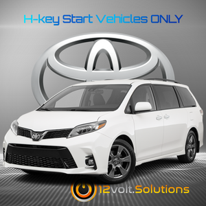 2015-2020 Toyota Sienna Plug and Play Remote Start Kit (H-Key)
