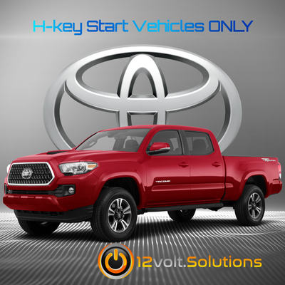 2016-2021 Toyota Tacoma Plug and Play Remote Start Kit (H-Key)