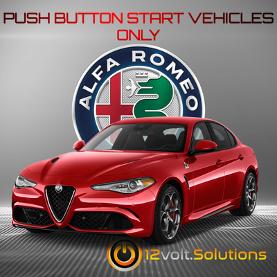 2017-2018 Alfa Romeo Giulia Plug and Play Remote Start Kit