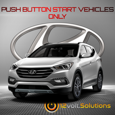 2013-2016 Hyundai Santa Fe Sport Remote Start Plug and Play Kit (Push Button Start)