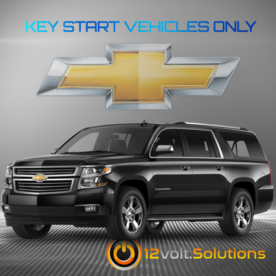 2017-2019 Chevrolet Suburban Plug & Play Remote Start Kit (Key Start)