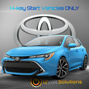 2017-2019 Toyota Corolla iM Plug and Play Remote Start Kit (H-Key)