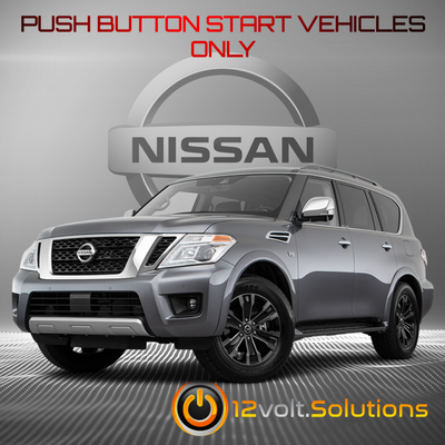 2017-2019 Nissan Armada Remote Start Plug and Play Kit (Push Button Start)