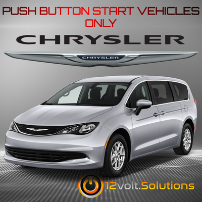 2017 Chrysler Pacifica Plug & Play Remote Start Kit (Push Button Start)