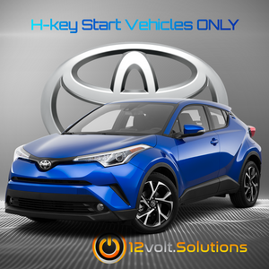 2018-2019 Toyota C-HR Plug and Play Remote Start Kit (H-Key)