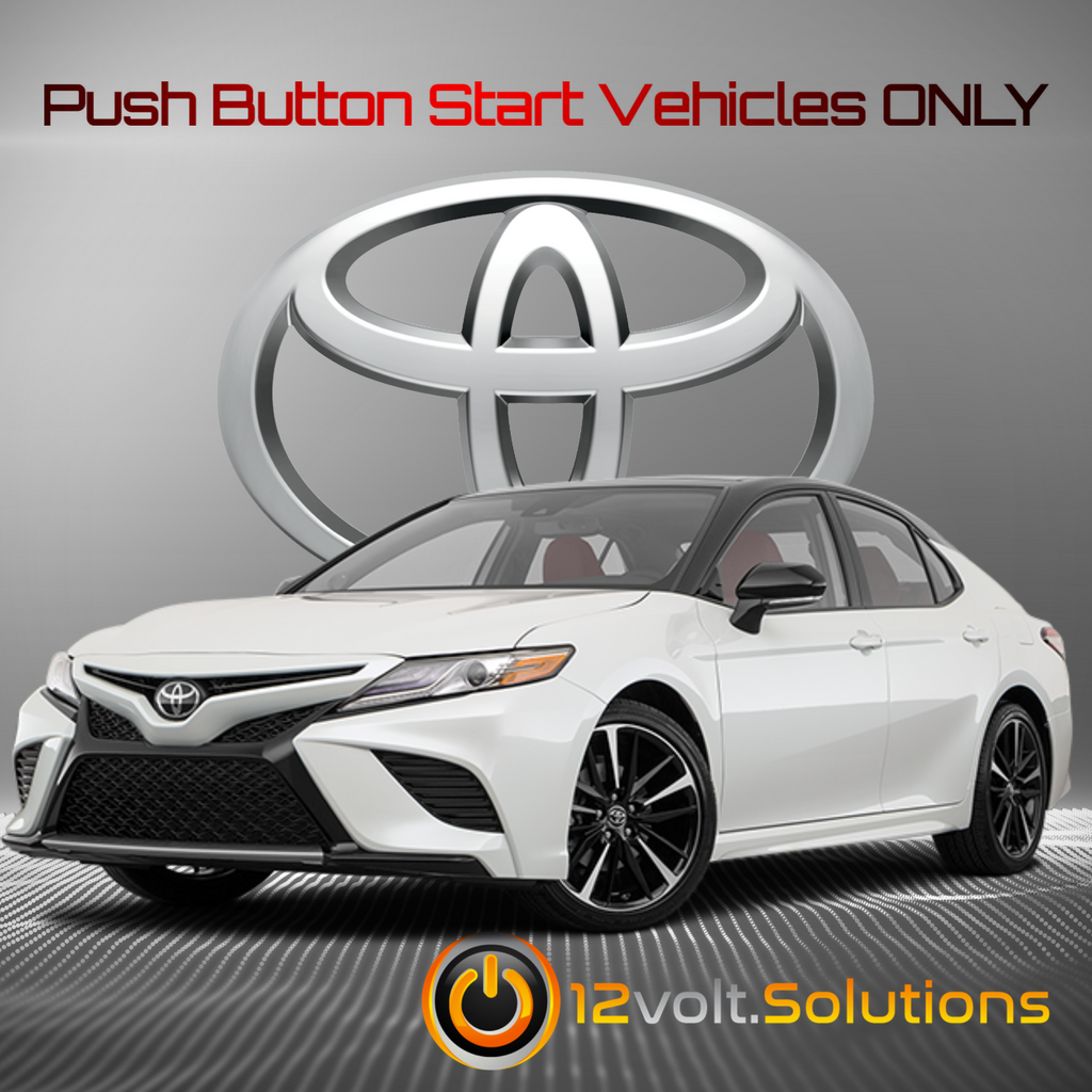 2018-2020 Toyota Camry Plug & Play Remote Start Kit (Push Button Start)