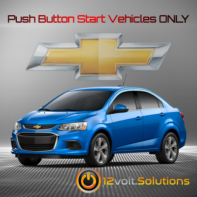 2017-2018 Chevrolet Sonic Plug and Play Remote Start Kit (Push Button Start)