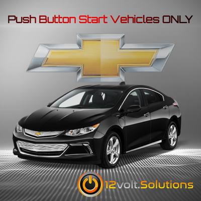 2017-2019 Chevrolet Bolt Plug and Play Remote Start Kit (Push Button Start)