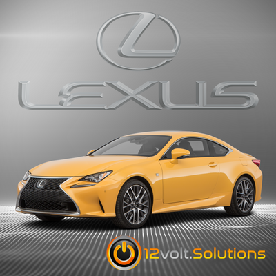 2016-2017 Lexus RC300 Plug & Play Remote Start Kit (Push Button Start)