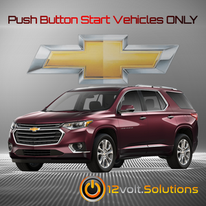 2018-2020 Chevrolet Traverse Plug and Play Remote Start Kit (Push Button Start)