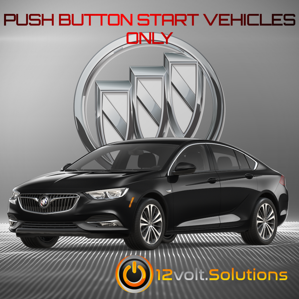 2018 Buick Regal Sportback Plug & Play Remote Start Kit (Push Button Start)