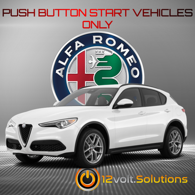 2019 Alfa Romeo Stelvio Plug and Play Remote Start Kit