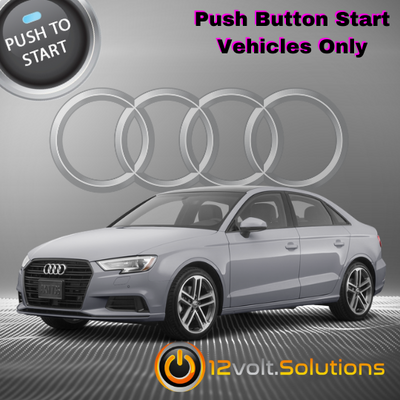 2019-2021 Audi A3 Plug and Play Remote Start Kit (Push Button Start)