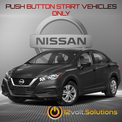 2020 Nissan Versa Plug & Play Remote Start Kit (Push Button Start)