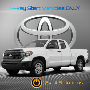 2020 Toyota Tundra Plug and Play Remote Start Kit (H-Key)