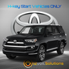 2020 Toyota 4Runner Plug and Play Remote Start Kit (H-Key)