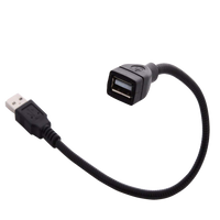 USB Extension Gooseneck Cable - 12 inches