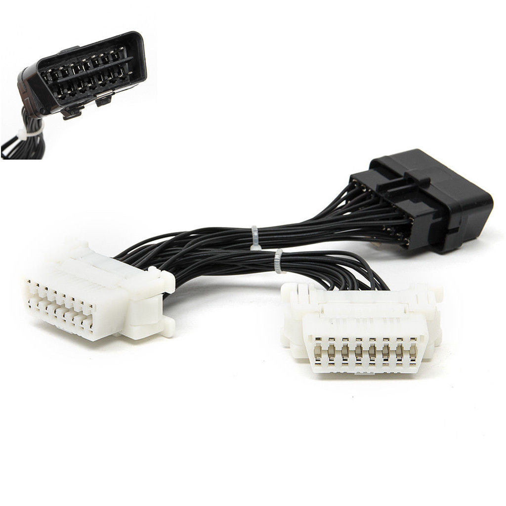 OBD2 Splitter Extension Y Cable Adapter