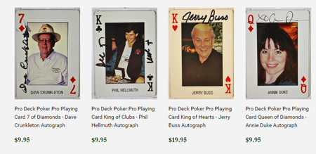 Autographed Pro Deck Playing Cards