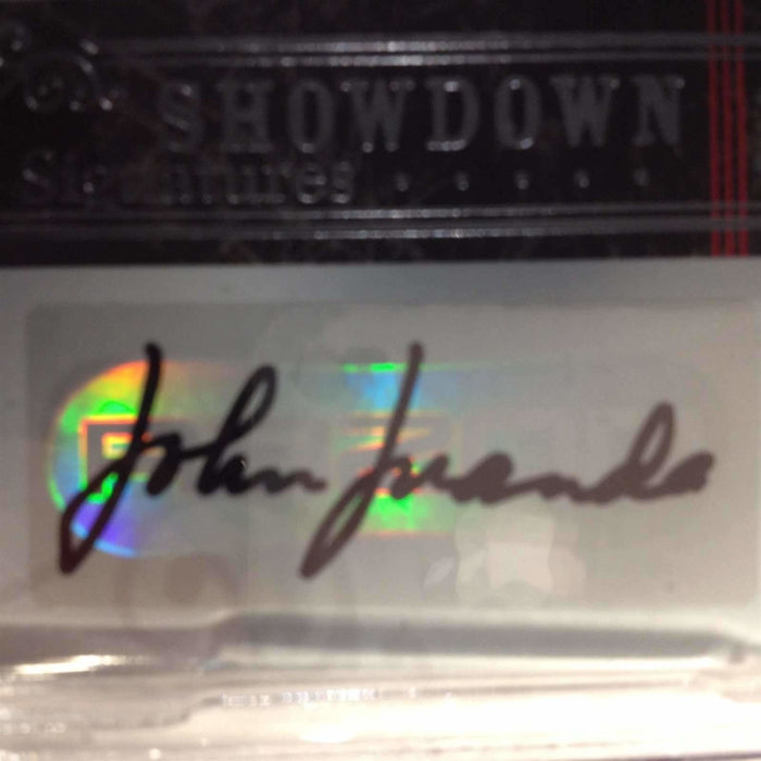 John Juanda 2006 Razor Poker #A-12 Showdown Signature Poker Trading Card (Ultra Short Print) Graded 9