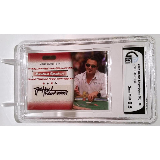 Joe Hachem 2007 Razor Poker #SS-16 Graded 9.5 Autograph Showdown Signature