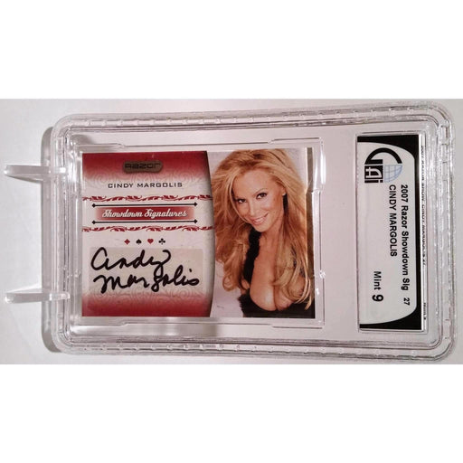Cindy Margolis 2007 Razor Poker #SS-27 Graded 9 Autograph Showdown Signature