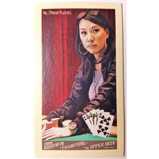 2009 Upper Deck Goodwin Champions #105 Evelyn Ng Mini White Border Poker Trading Card